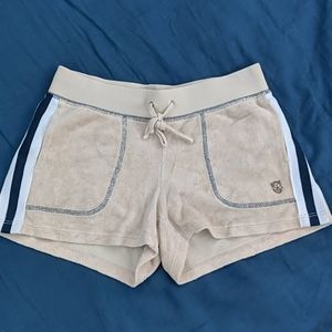 Cream Juicy Couture Tennis Shorts